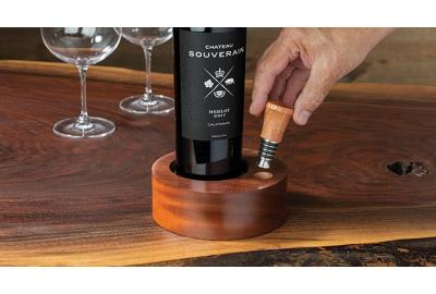 A Unique Multi-Axis Wine Coaster