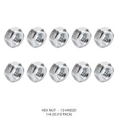 Hex Nut, 1/4-20 (10 pack)