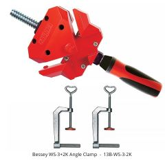 Bessey heavy duty Cast Aluminum Angle Clamp for Woodworking and Construction
