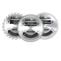 Amana Tool A.G.E. Series Table Saw Blades, 3-Pack