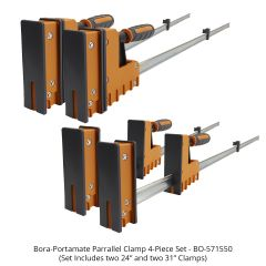 Bora-Portamate Parallel Clamp 4-piece Set