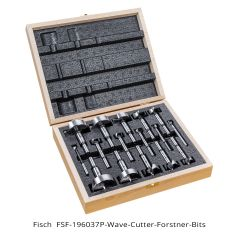Fisch Wave Cutter 16-piece Forstner Bit Set