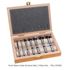 Fisch Wave Cutter Forstner Bits 7-piece Set