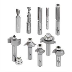 Whiteside 10 Essential Router Bit Set