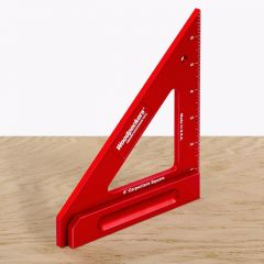 "6"" Carpenters Square Red with Inch Graduations"