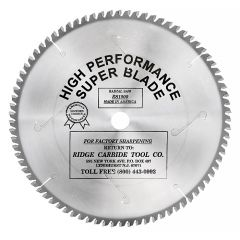 Ridge Carbide Miter Saw Blade
