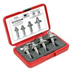 Whiteside 4 pc Roundover & Beading Router Bit Set