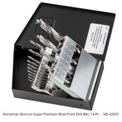 Norseman Burrout™ Super Premium Brad Point Drill Bits 14-piece