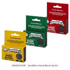 SandFlex Hand Block 3-piece Kit