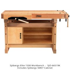 Sjobergs Elite 1500 Workbench with SM07 Cabinet - FREE GROUND SHIPPING ON THIS PRODUCT (U.S. 48 CONTIGUOUS STATES ONLY).