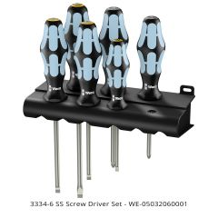 Wera 3334/6 Stainless Steel Screw Driver Set 6-piece