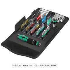 Wera Kompakt 100 52-piece Driver Bit Set