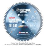 "Amana Tool Electro-Blu 10"" 80-tooth Double-Face Melamine Table Saw Blade"