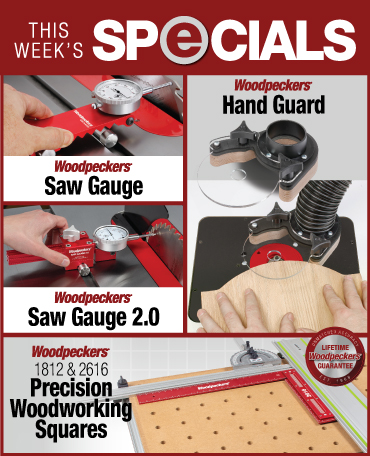woodworking specials